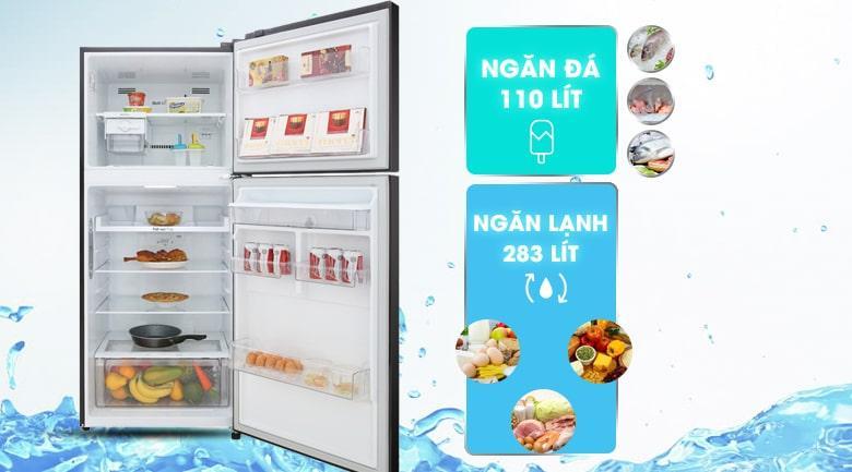 Tủ lạnh LG GN-D422BL có dung tích cho 3-4 người