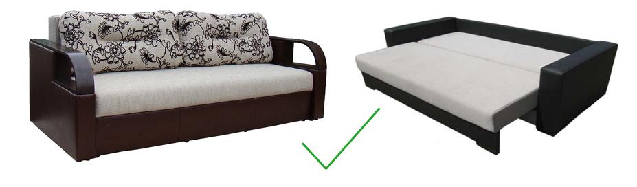 Диван кровать с механизмом раскладывания Еврокнижка, Omebli.ua