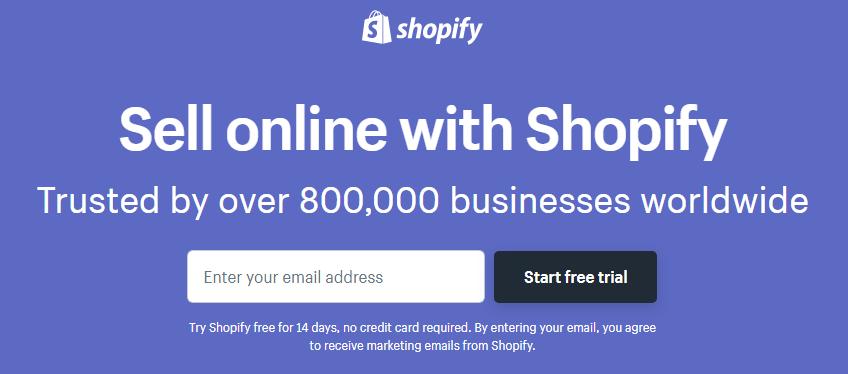 Magento Vs Shopify Vs WooCommerce: Shopify website