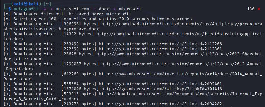Passive reconnaissance - Metagoofil [Kali Linux]. Source: nudesystems.com