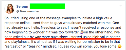 High value banter does not work on every guy