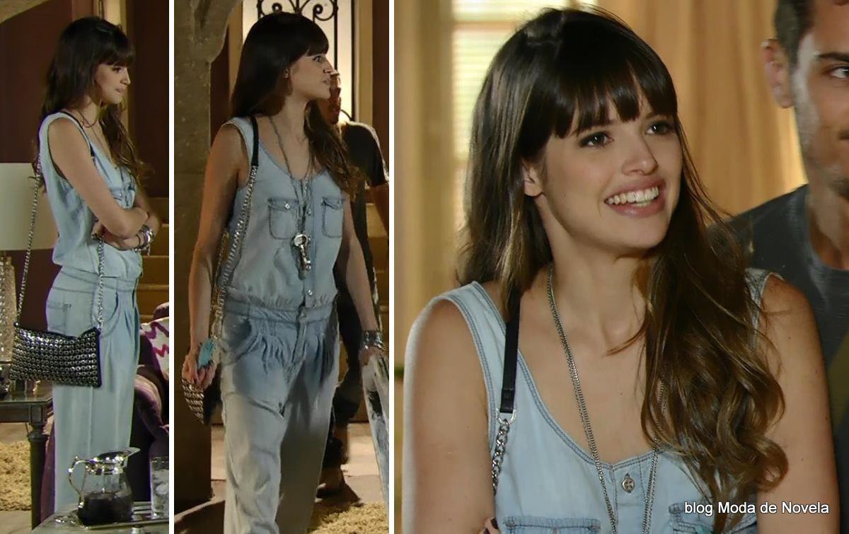 moda da novela Em Família - look da Gisele dia 24 de junho
