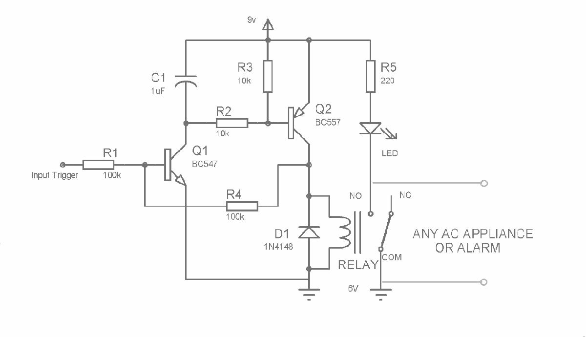 晶体管锁存电路图1
