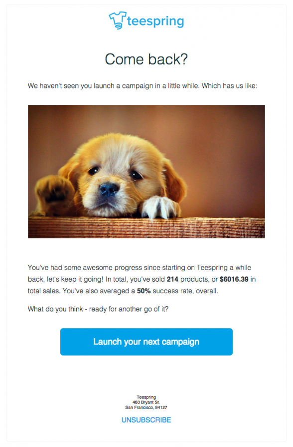 reengagement email