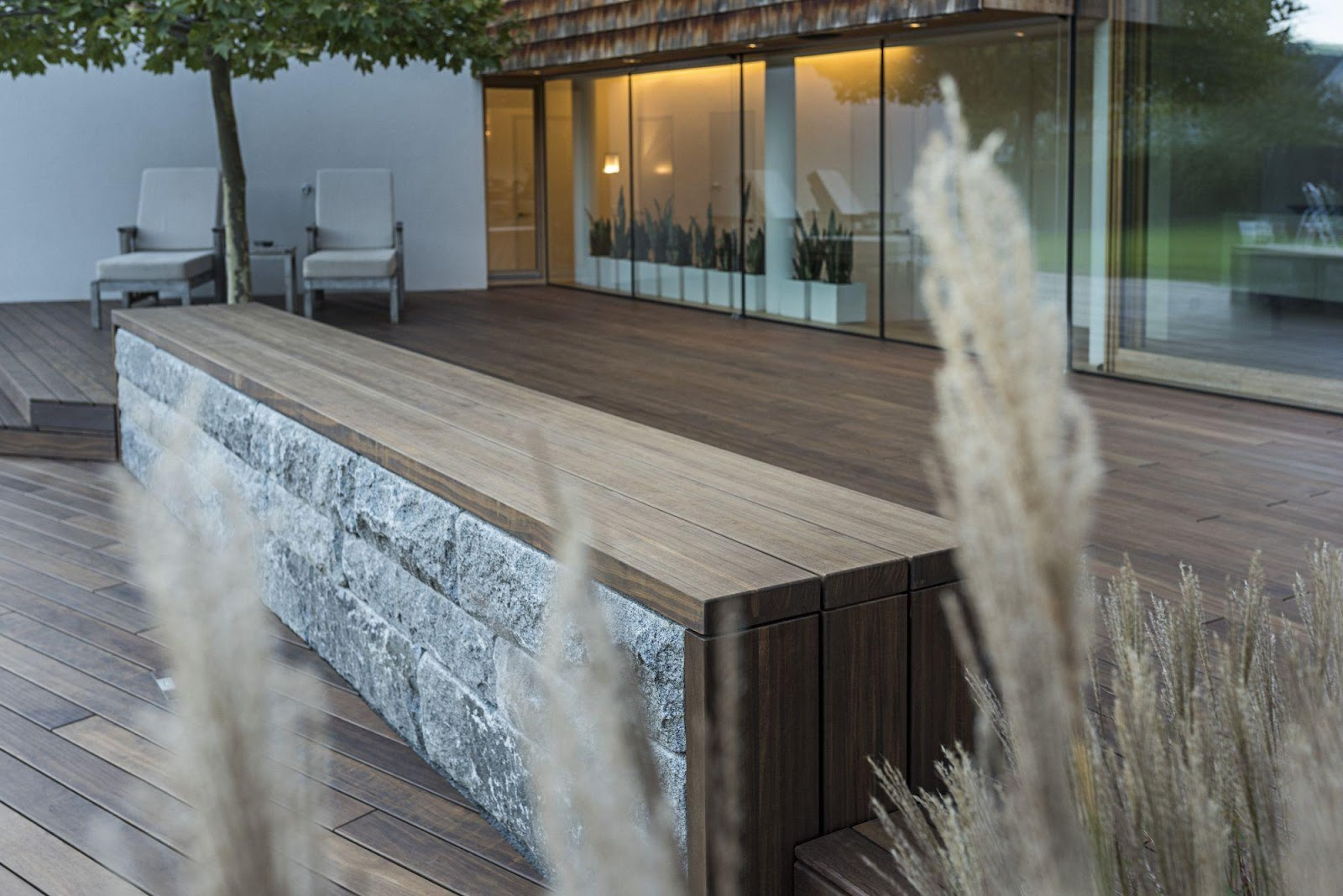 integrerede møbler til tagterrassen