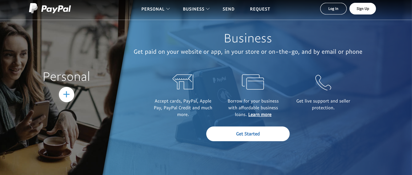 Making a PayPal business account