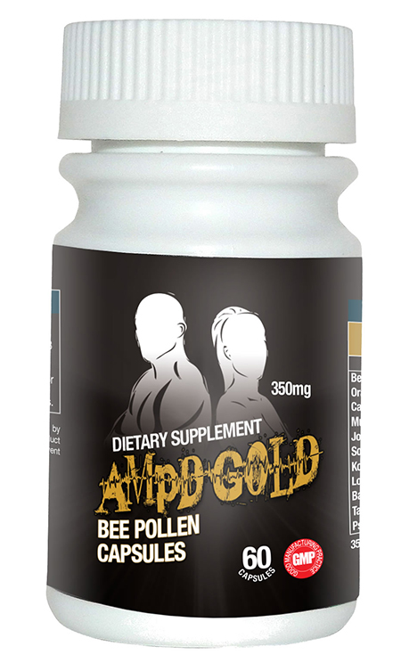 Label, AMPD Gold Bee Pollen dietary supplement