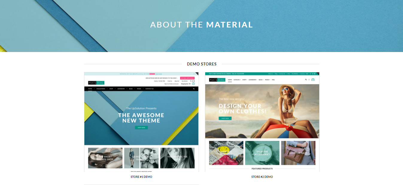 Material - Shopify beauty theme