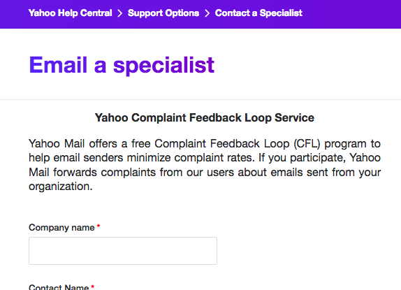 Email a Specialist Page