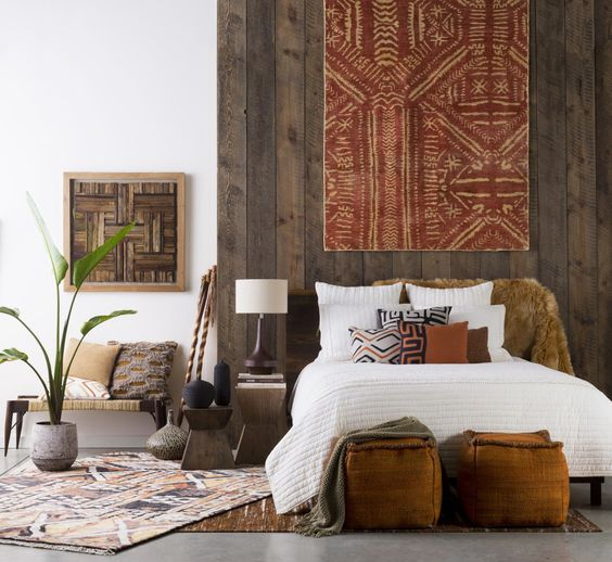 Boho Accents with Mud Cloth Prints