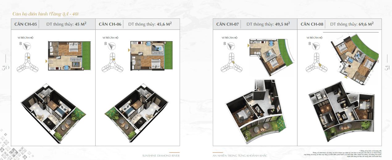 thiết kế căn hộ sunshine diamond river q7