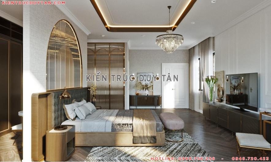 Nội thất phòng ngủ theo phong cách tân cổ điển – view 2
