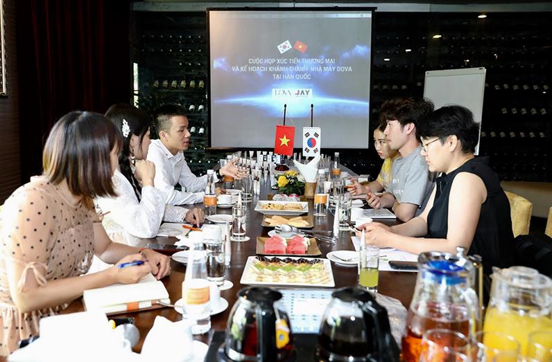 Cuộc họp Xúc tiến thương mại & Kế hoạch khánh thành nhà máy Dova tại Hàn Quốc - Ảnh 1