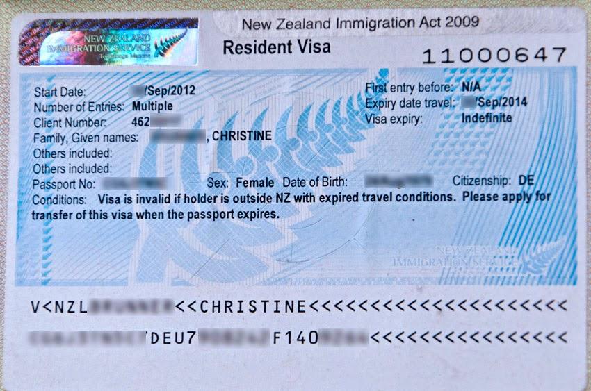 Neuseeland Resident Visa
