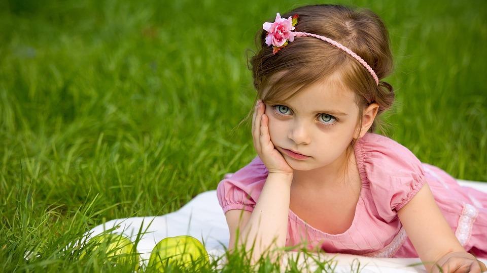 Girl, Grass, Nature, Summer, Cute, Outdoors, Leisure