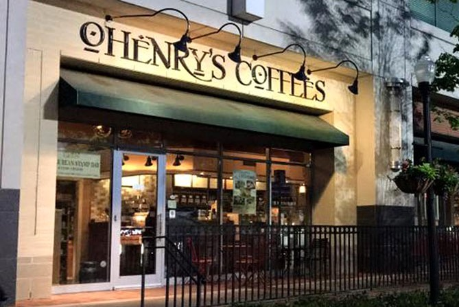 Image of the front of O'Henry's coffee shop. How to find the best coffee in Birmingham AL