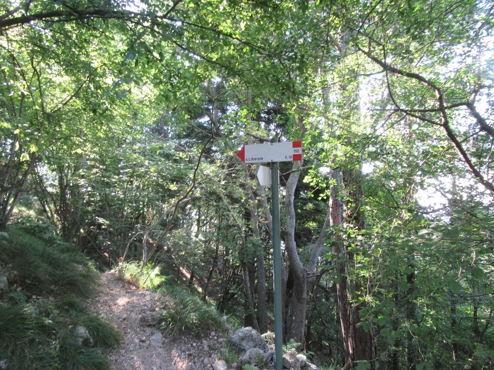 Bicycle ride Monte Grappa from Crespano - hiking trail sign