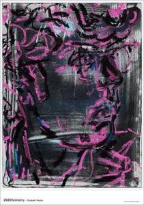 앉아있는, 자주색, 분홍색, 오래된이(가) 표시된 사진  자동 생성된 설명