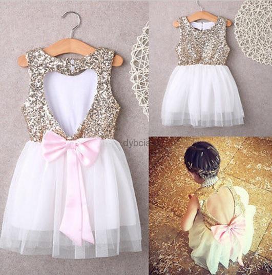 Sukienka z cekinami dla dziewczynki