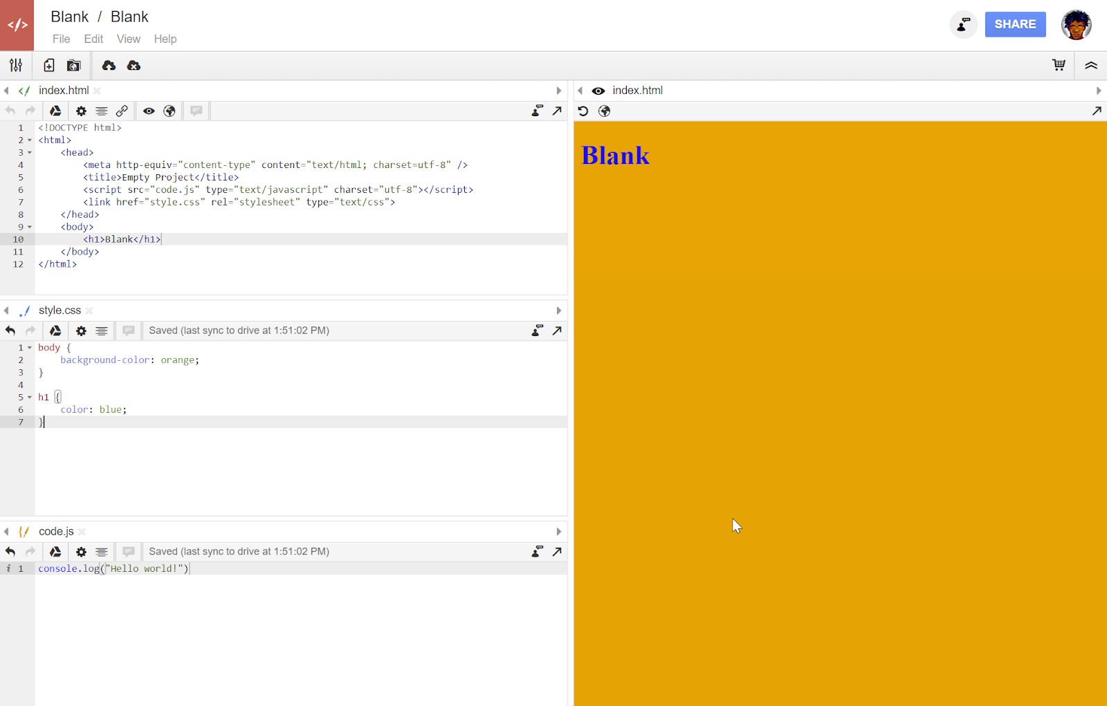 Google file javascript from drive using
