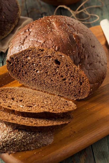 Molasses Recipes: Pumpernickel bread gets its classic dark color from molasses.