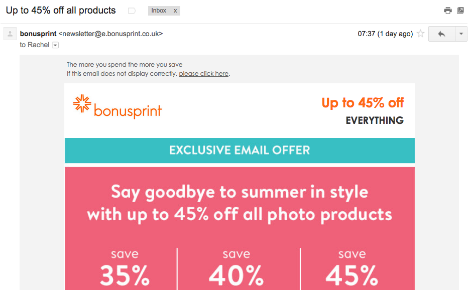 The incentive subject lines