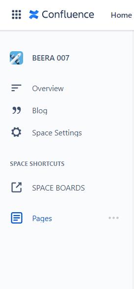 Space settings