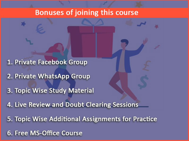 Bonuses of joining this course