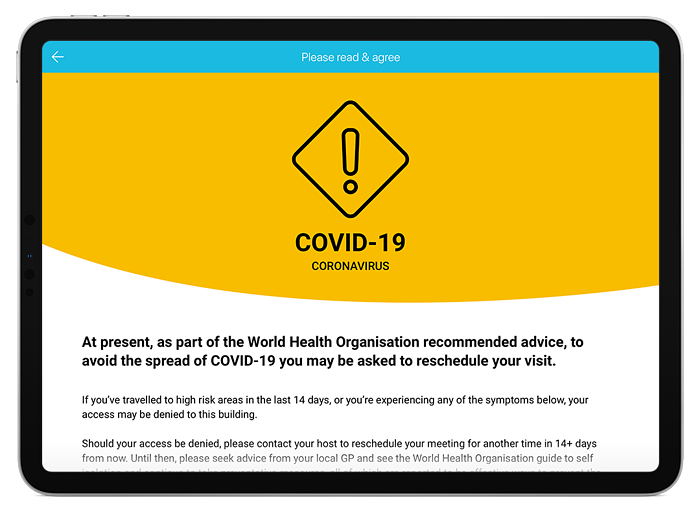 2. Do You Agree to the Company's COVID-19 Regulations?