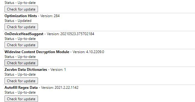 WidevineCDM component update