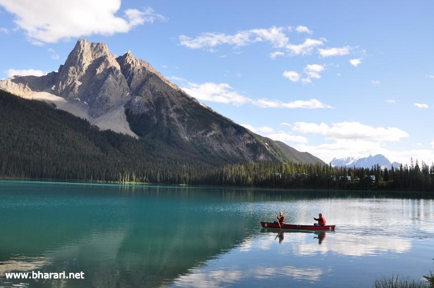 Canoeing in Emerald Lake