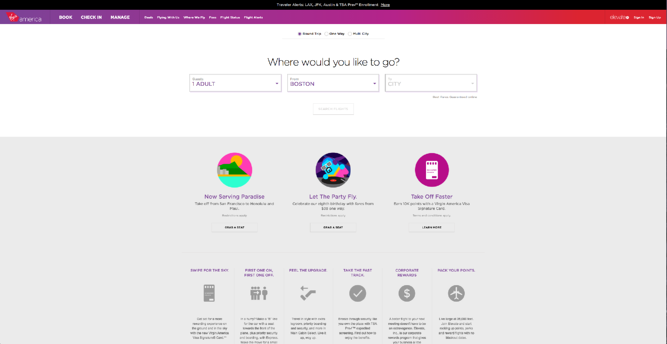 Virgin America UX Award winner 2014