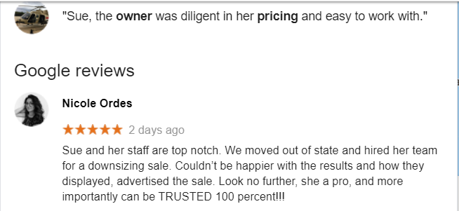 estate sale reviews