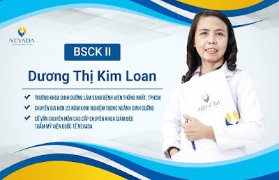 Chuyên gia, cố vấn cấp cao BSCK II Dương Thị Kim Loan
