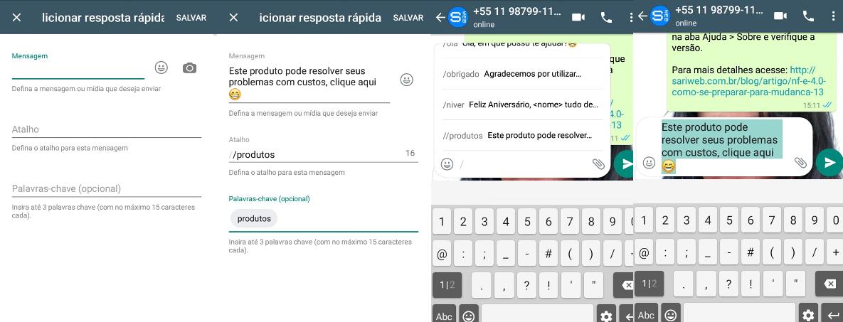 Criando mensagens automáticas com WhatsApp Business