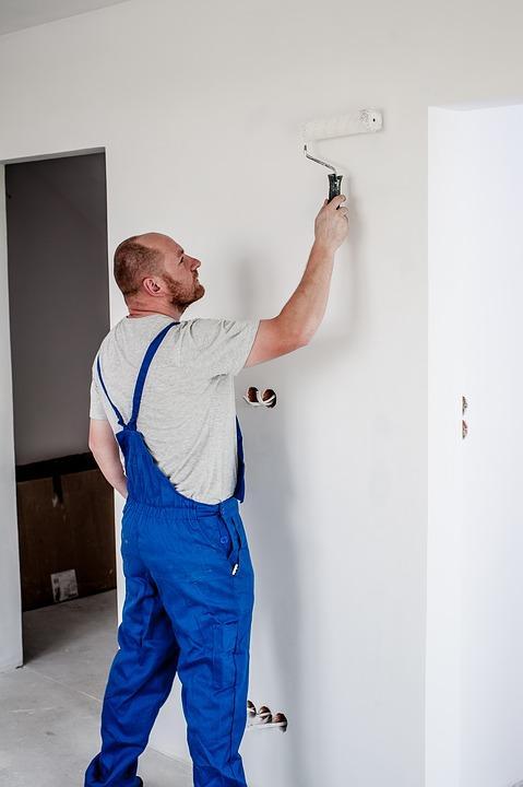 Pintor, Pintura, Empregado, Edifício, Trabalhador