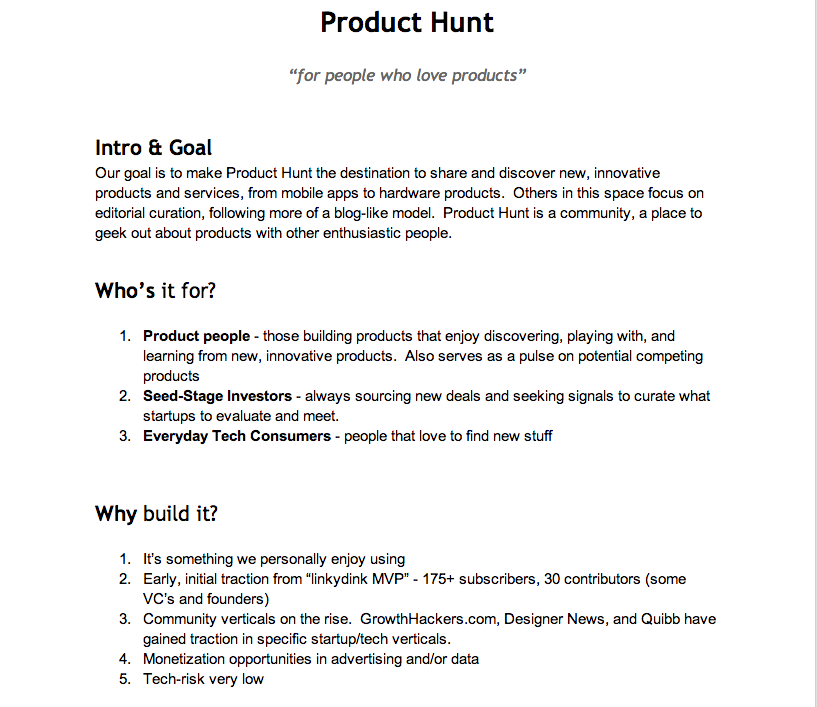 Setting the Goal—How to write an effective product requirements document