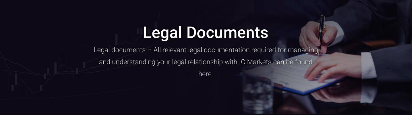 ic markets legal documents