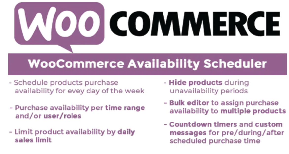 WooCommerce Availability Scheduler by Vanquish