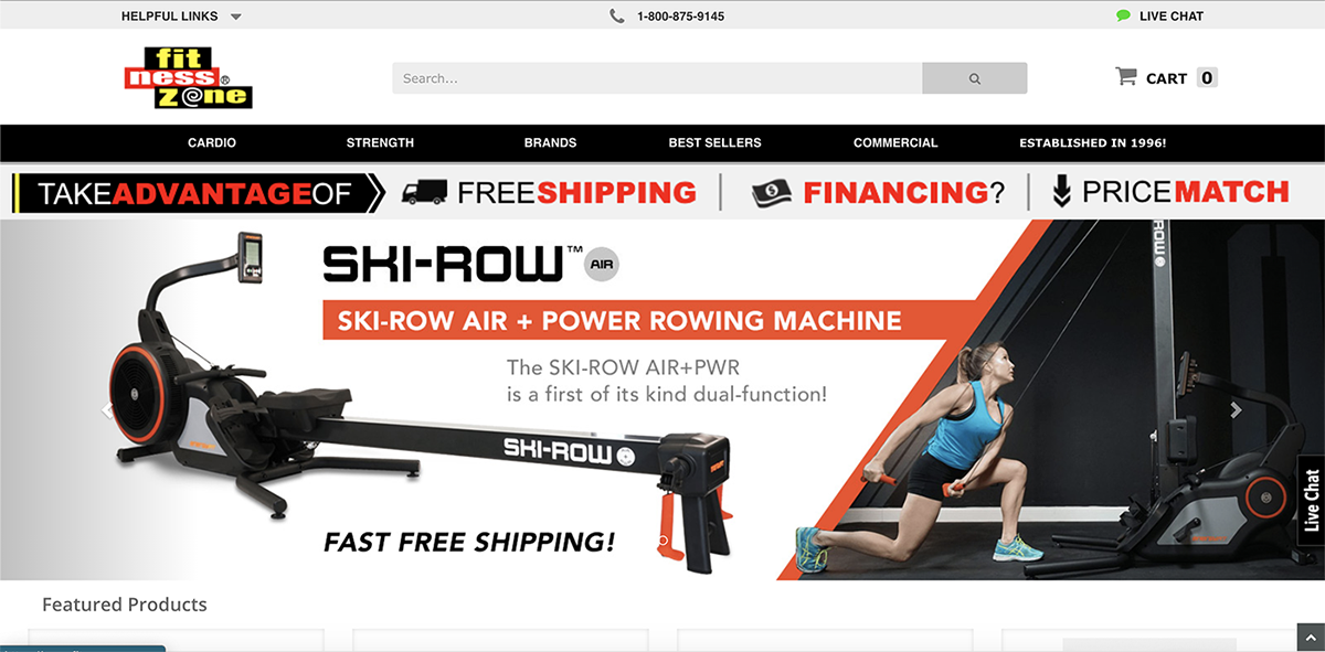 Fitness Zone Website Screenshot