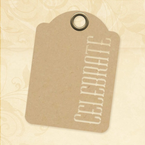 Staples - Celebrate-ATC Kraft Tags