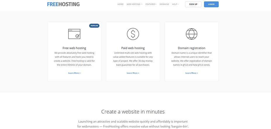 Lưu trữ trang web FreeHosting.