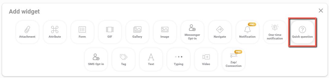 MobileMonkey chatbot widgets