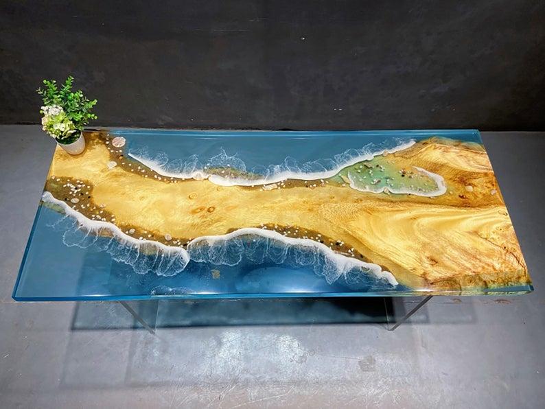 ocean wave resin table spot-epoxy resin table