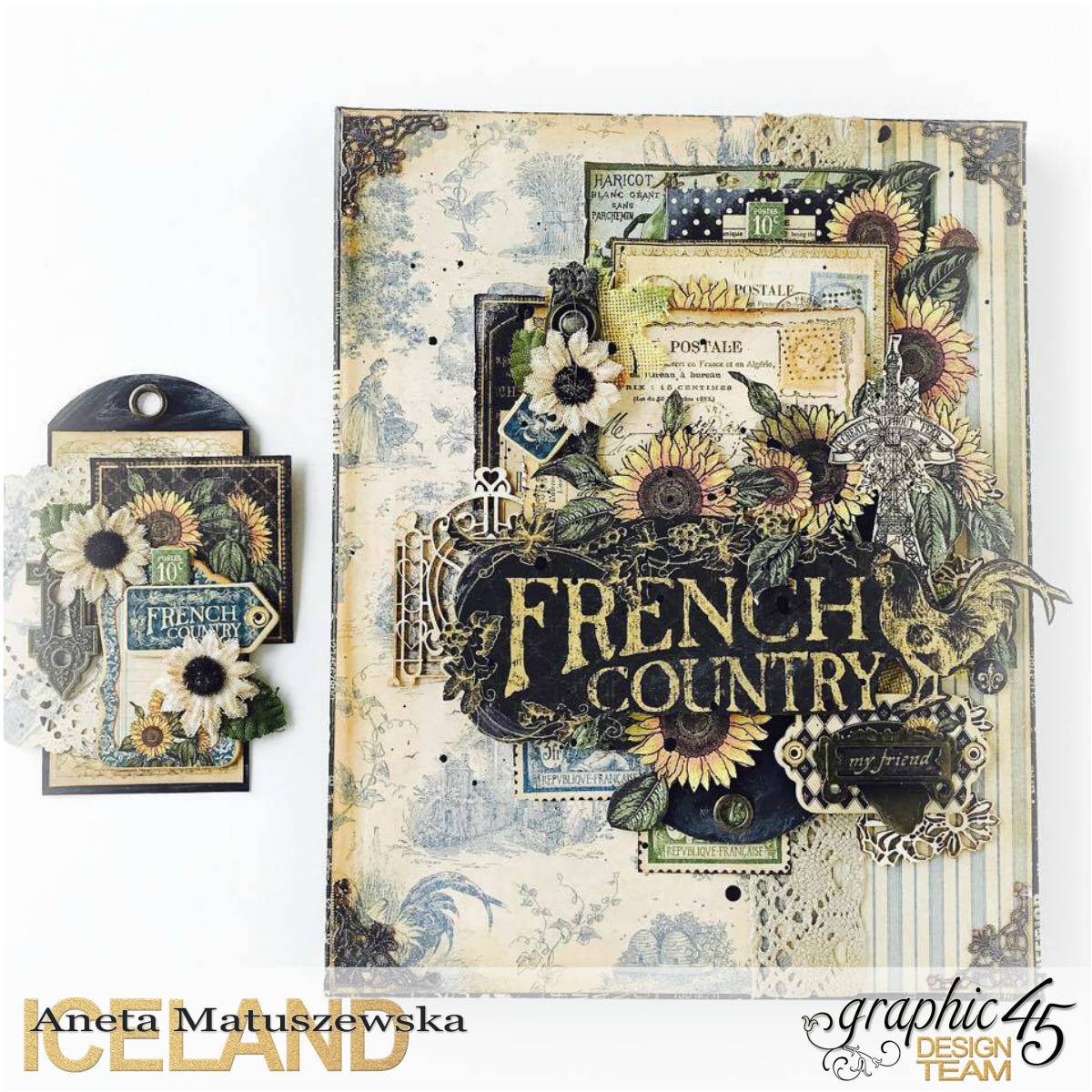 French Country canvas and tag for Graphic 45, by Aneta Matuszewska, photo 1.png