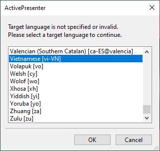 Select the target language