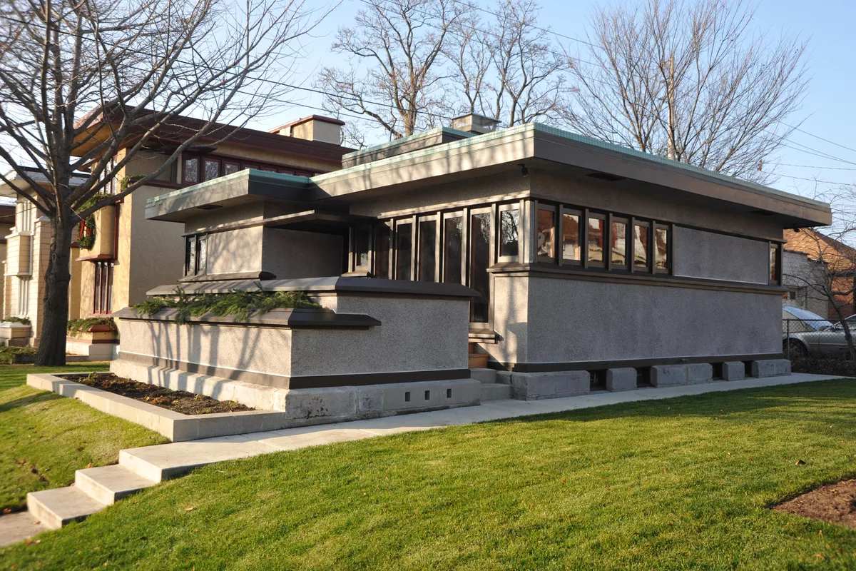 Usonian homes, early modular architecture by Frank Lloyd Wright