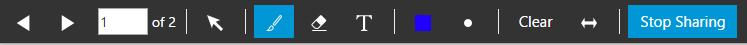 """La barra degli strumenti """"Condividi PDF"""" in 3CX WebMeeting."""