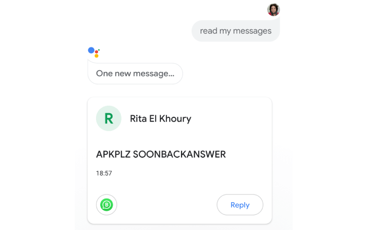 Use Google assistant to to read and reply your WhatsApp, telegram, slack messages