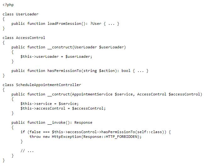 Внедрение контролеров пример кода